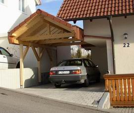 carport am haus fabulous carport am haus mit schuppen carport aus lrche unbehandelt freistehend. Black Bedroom Furniture Sets. Home Design Ideas